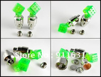 Wholesale New Style Dice Hot Wheels Motor Bike Car Tyre Wheel Valve Caps LED Light Neon Lamp