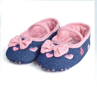 Wholesale baby shoes children first walk shoes girls oxford shoes with pink bow soft skidproof shoes china post