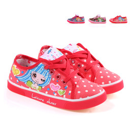 Three-color cat children shoes child canvas shoes 2628 autumn female child hand-painted shoes princess shoes 19 - 22.5cm