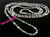 Wholesale Sale Pc MM quot Stainless Steel Lo Bead Chain Necklace