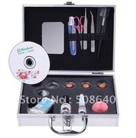 Synthetic Hair eyelash extension kit - False Eye Lash Eyelash Eyelashes Extension Kit Full Set with Case For Make up Beauty