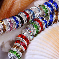 Wholesale Flower Shape Alloy Crystal Spacer Bead fit for Bracelet amp Necklace Jewelry