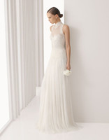 Wholesale Sexy Grace Charming high necked Lace Wedding dress Bridal gown With Back button