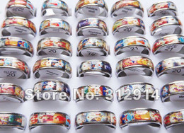 Wholesale Jewelry Lots 20pcs Religious Jesus Top Stainless Steel Rings Mix Size Free Shipping