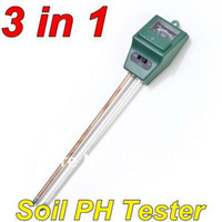 Wholesale 3 in Plant Flowers Soil Test Kits PH Tester Moisture Meter Light Illuminance Analyzer freeshipping