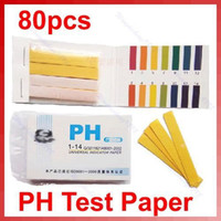 Wholesale 80pcs Full Range pH Test Paper Indicator Litmus Strips Kit Testing New A0005
