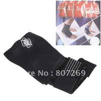 Wholesale Ankle Support With Strap Elastic Neoprene Ankle Support Brace Black