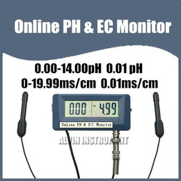 Wholesale Online PH Meter Tester amp EC Monitor Conductivity Meter with power adaptor replaceable