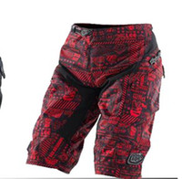 Wholesale Cross country motorcycle riding bike suit downhill man shorts and Red
