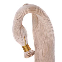 Wholesale Grade AAAA100 brazilian virgin hair weave I tip straight hair g quot quot DHL in stock