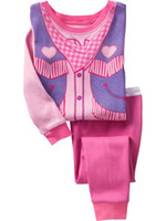 6 sets lot Cheap Children Clothing Sets , girls cotton pajama...