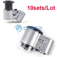Wholesale Holiday Sale sets New Mini X Microscope Loupe LED Magnifier Currency Detecti