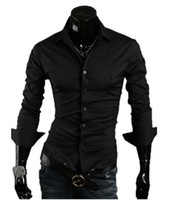 Wholesale mens shirts male fashion clothing color size M L XL XXL long sleeve droshipp