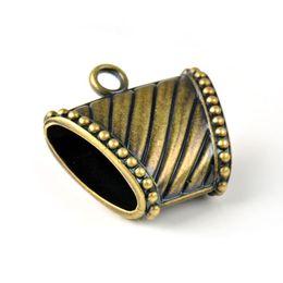 Antique brass CCB plastic jewelry scarves slide pendants charms,PT-760