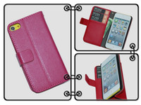 Wholesale Promotion Wallet Pattern Stand Folio Leather Case Skin Pouch Cover Protector for Apple Ipod Touch