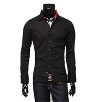 Men Cotton Long Sleeve Free shipping,we best,2012 hot sale men Slim chest mesh collision Silk slip long-sleeved shirt,two c