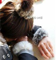 Wholesale Rabbit fur high quality macrotrichia headband ring pops hand ring hand dancer Bracelet
