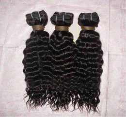 Wholesale 100 indian remy virgin human hair weft machine made quot quot deep curl natural color in stock