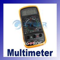 ac dc covers - LCD Digital Multimeter AC DC Ohm VOLT Meter Voltmeter Ohmmeter Ammeter Yellow Back Cover freeshippin