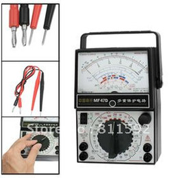 Wholesale AC DC Volt Amp Ohm Meter MF47D Analog Multimeter Black White
