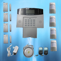 Wholesale New Popular GSM Wireless Burglar Alarm Home Security Systems LCD Auto Dialer S212