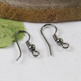 150pcs Black-gunmetal Ball & Spring Earring Hooks H0253