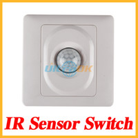 Wholesale IR Infrared Motion Sensor Automatic Light Lamp Switch V V AC White