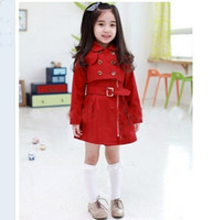 Wholesale 2013 Korean girl windbreaker set children s wear fashion short jacket vest dress Y DEC220
