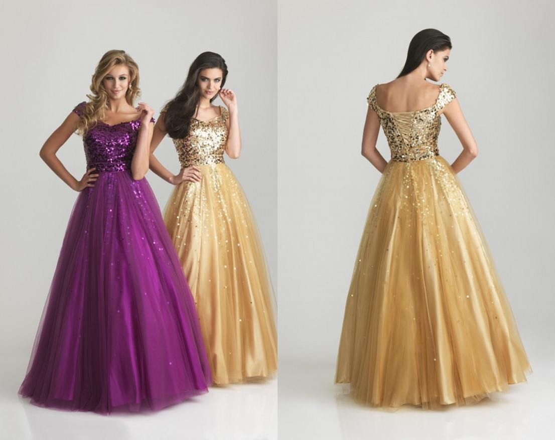 Yellow Prom Dress With Sleeves Long Lace Dresses 2015 Gold
