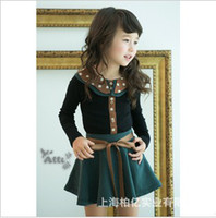2014 Spring Korean Girls Polka Dot Lapel Long Sleeve T- shirt...