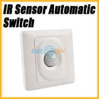 Wholesale IR Infrared Motion Sensor Automatic Light Lamp Switch V VAC White