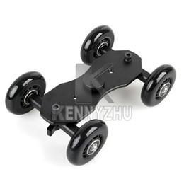 Wholesale TableTop Compact Dolly Kit Skater Slider Black Wheel Camera Car Truck Stabilizer For DSLR Camera Camcorder Canon Nikon