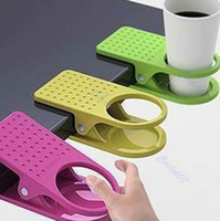 Wholesale 3pcs Drink Cup Coffee Holder Clip Desk Table Home Office Use colorfull