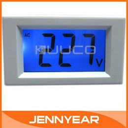 Wholesale Mini Digital Voltmeter Panel AC V Blue LCD Digital Alternating Voltage Meter Power Monitor