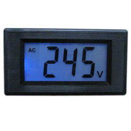 Wholesale Mini Digital Voltmeters Panel AC V LCD Digital Alternating Voltage Meter Black Power Monitor