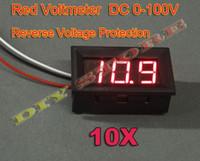 10шт 3 провода DC0-100V/DC0-99.9V Красный Светодиодный дисплей напряжения метр панели вольтметр с обратным P