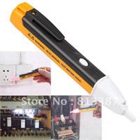 Wholesale Pocket Pen Style AC Voltage Tester Voltage Alert Detector Tester Alarm with LED Illumination Free Sh