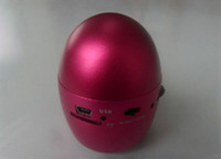 Wholesale Egg Shaped Resonance Vibration Speaker FM SD rechargeable Mini Speaker
