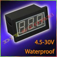 10pcs/lot Mini DC4.5V-30V Красный водонепроницаемый цифровой вольтметр Вольт Панель метр + бесплатная доставка-10000421