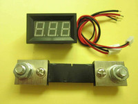 Wholesale New A DC Blue LED Digital Panel Ammeter A AMP Meter A mV Shunt