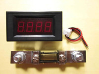 Wholesale New A DC Red LED Digital Panel Ammeter A AMP Meter A mV Shunt