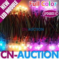 Wholesale Waterproof RGB Full color LPD6803 IC LED Pixel Module mm Lamp LED Light String CN LM19