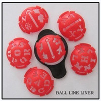 Wholesale set Red Golf Ball Line Liner Marker Template Mark Putting Alignment Tool Golfer new