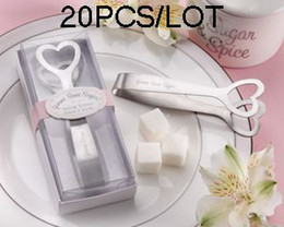 Wedding Gifts of Heart Shaped Sugar Tongs for Bridal gifts and Party Favors 20pcs lot Free shipping
