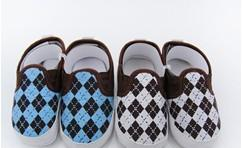 Wholesale Cool boy Baby Shoes Rhombus pattern Infant Shoes for Baby Footwear Antislide Kids Shoe