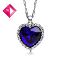 Wholesale Neoglory Ocean Heart Titanic Necklace Crystal Pendant for Women Elegant Rhinestone Jewelry Sales