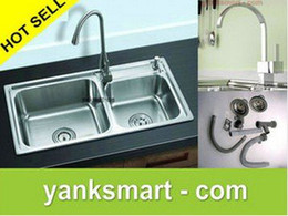 Wholesale Fashion New SS304 Stainless Steel Square Single Bowl Kitchen Sink With Faucet A1