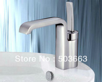 Wholesale New Classic Deck Mount Chrome Basin Faucet Brass Mixer Tap HK