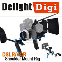 Wholesale DSLR VCR Shoulder Mount Rig Follow Focus Matte Box Movie Kit F Canon D D
