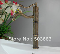 Wholesale Top grade Unique Deck Mount Bathroom amp Kitchen Basin Faucet Antique Pattern Mixer Tap H